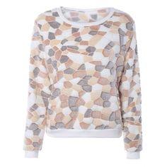 Yellow Color Block Long Sleeves Fleece Sweatshirt-11.63 Online Shopping| GearBest.com