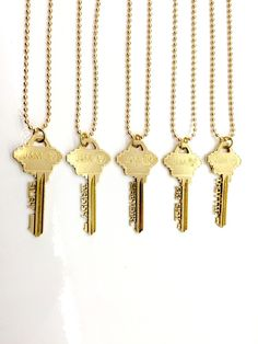 Brand- CANDY KIDS Gold keys with a gold 20 inch chain. All keys are handmade all carved my hand. 5 select styles. Also coated with anti tarnish for a longer lasting shiny look. THOTTIE DADDY BABY GIRL BB BOI SLAY