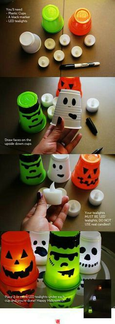 Cute and simple party decoration ideas for kids Halloween party @Sara Bourne Marcinko we should make these Halloween crafts and throw a party for the kids!