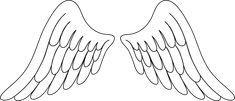 Angel wings angel wing clip art image - Clipartix