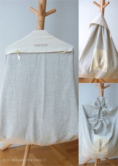 Pascale from//Between the Lines// offers a tutorial for this laundry bag. It looks like she made hers from linen. Who knew laundry bags could be so elegant? Diy Bags Purses, Sewing Tutorials, Sewing Projects, Bag Tutorials, Diy Projects, Headband Tutorial, Purse Patterns, Fabric Bags, Wash Bags