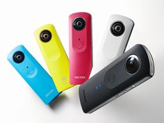 Gadgets: The Ricoh Theta S captures video in high resolution 360 degrees. Ricoh Theta S Main Features: Share all the surprises of the world of video in real time. Mobile Gadgets, Phone Gadgets, New Gadgets, Electronics Gadgets, Cool Gadgets, Smartphone, Arduino, 360 Grad Foto, View App