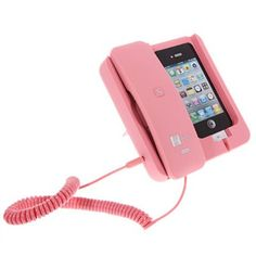 Cheap KK-02 Handset Dock Stand with Hands Free for iPhone 4 , 4S , 3G / 3GS , iPhone 5 Pink (PINK) | Everbuying Mobile