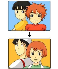 ponyo pelicula - Buscar con Google I never thought that they were the bakery couple from kiki