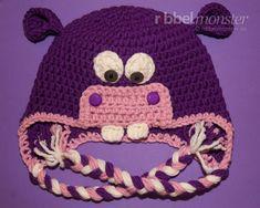 """Nilpferd Mütze häkeln """"Hanny"""" - Eine einfache Anleitung zum Nilpferd Mütze häkeln in allen Größen für Babies, Kinder und Erwachsene mit allen Garnen und Nadelstärken."""