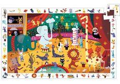 puzzle éducatif 'cirque' 35 pces (Djeco)