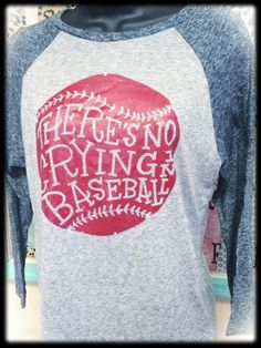 There's No Crying in Baseball Burnout Raglan Tee