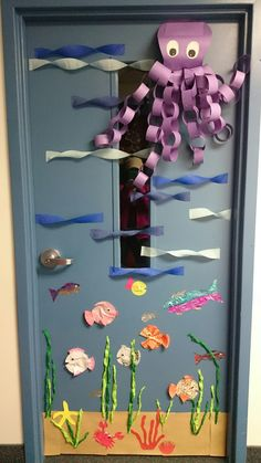 Under the sea theme classroom door decoration