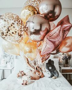 Us 175 24 Off Rose Gold Inlay Round Number Ballons Air Balloons Birthday Party Decorations Kids Party Eid Mubarak Globos Babyshower Balloon In Wedding Balloon Decorations, Kids Party Decorations, Wedding Balloons, Party Themes, Ideas Party, Pink Balloons, Latex Balloons, Marble Balloons, Helium Balloons