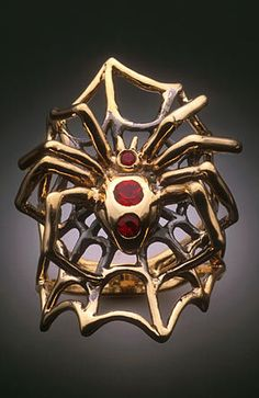 Marty Magic Store - Gold Spider Ring with Rubies - 14k Gold, $1,895.00…