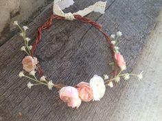 Tea Party flower crown, baby's breath with blush rananculas, boho baby, toddler halo, toddler flower crown, flower girl head piece