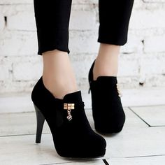 Stylish Pendant and Stiletto Heel Design Women's Pumps #CLICK! #clothing, #shoes, #jewelry, #women, #men