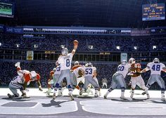Dallas quarterback Troy Aikman throws a pass during a 1994 Cowboys-Cardinals game. (Al Tielemans/SI) SI VAULT: Aikman leads Dallas to Super Bowl victory over the Bills Nfl Football Players, Dallas Cowboys Football, School Football, Pittsburgh Steelers, Dallas Cowboys Images, Dallas Cowboys Wallpaper, Troy Aikman, How Bout Them Cowboys, Nfl Sports