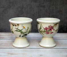 2pcs #portmeirion The Queens Hidden Garden Single Egg Cups Daisy Willow & Herb