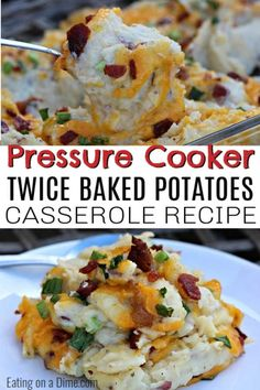This Instant Pot Twice Baked Potatoes Casserole Recipe is amazing! You are going to love this easy pressure cooker loaded baked potato casserole recipe. This recipe is the best to make ahead so that you can easily make it for a crowd or for the holidays. Loaded Baked Potato Casserole, Potatoe Casserole Recipes, Easy Pressure Cooker Recipes, Pressure Cooking, Dessert For Dinner, Family Meals, Cooking Recipes, Easy Recipes, Healthy Recipes