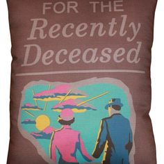 Beetlejuice Handbook for the Recently Deceased Throw pillow