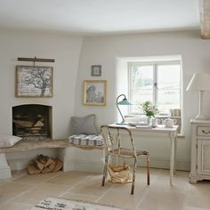 French-style home office   Home office ideas   Home office   Country Homes & Interiors   IMAGE   Housetohome.co.uk