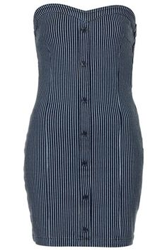 MOTO Stripe Denim Bodycon Dress - Dresses & Rompers - Sale  - Sale & Offers