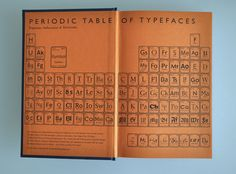 Periodic table of Typefaces from Just My Type: A Book About Fonts is a light-hearted collection of stories aimed at non-designers. #typography