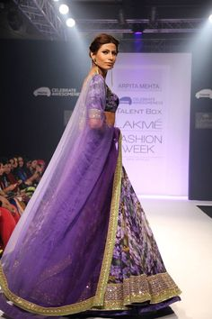 Arpita Mehta. LFW 13'. Indian Couture.