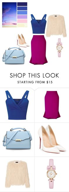 """""""blue"""" by aidaaa1992 ❤ liked on Polyvore featuring Miss Selfridge, Roland Mouret, Christian Louboutin and Nili Lotan"""