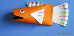 32 fish kid craft http://hative.com/homemade-animal-toilet-paper-roll-crafts/