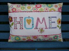 Hand CrossStitched Home Cushion by HandmadeByJulieAnne on Etsy, £35.00