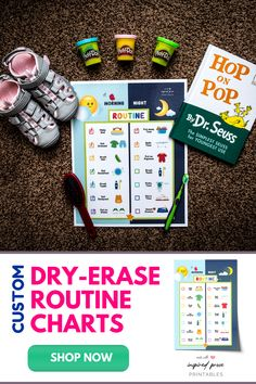 Customize this dry erase daily routine chart with morning and bedtime activities for your toddler to complete. #visualschedule #routinechartforkids  #toddlerchorechart #dailyroutineforkids #simplechorechart #toddlerchorechart #inspiredprose #inspiredproseprintables Toddler Routine Chart, Bedtime Routine Chart, Daily Routine Chart, Chore Chart For Toddlers, Charts For Kids, Toddler Chores, Toddler Activities, Printable Chore Chart, Printables