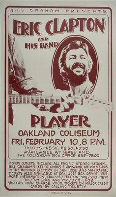 Eric Clapton - Oakland Coliseum Arena (Oakland, CA) Feb 10, 1978