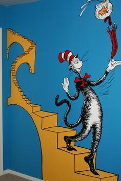 dr seuss nursery | Dr. Seuss Nursery Mural » Cat 8