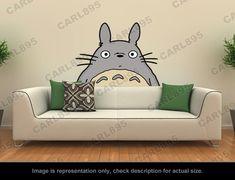 Ghibli Totoro Head Wall Art Applique Sticker   eBay