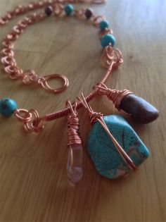"""Native American Style Copper Wire Handcrafted Necklace 18"""" on Etsy, $80.00"""