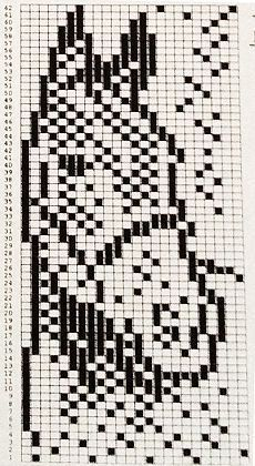 Bilderesultat for knitting chart kuvio Filet Crochet Charts, Knitting Charts, Knitting Stitches, Knitting Patterns, Crochet Patterns, Beading Patterns Free, Bead Loom Patterns, Cross Stitch Designs, Cross Stitch Patterns