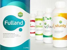 Satis - Branding by Gustavo Freitas, via Behance Medical Packaging, Food Packaging Design, Coffee Packaging, Bottle Packaging, Packaging Design Inspiration, Branding Design, Tagline Examples, Label Design, Package Design