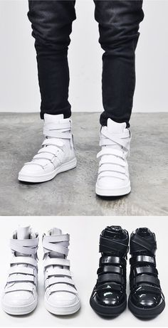 Shoes :: Avant-garde Multi Strap Velcro High-Shoes 134 - Mens Fashion Clothing For An Attractive Guy Look