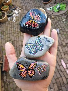 Stone Art Painting, Rock Painting, Clay Pots, Painted Rocks, Coin Purse, Purses, Shop Signs, Handbags, Stone Painting