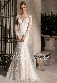robe de mariage sexy on sale at reasonable prices, buy Long Sleeves Wedding Dresses 2017 Vestido De Noiva White Mermaid See Through Back Wedding Bridal Gowns Robe De Mariage Sexy from mobile site on Aliexpress Now! Mori Lee Bridal, Mori Lee Wedding Dress, 2015 Wedding Dresses, Wedding Dress Sleeves, Wedding Dress Styles, Bridal Dresses, Wedding Gowns, Bridesmaid Dresses, Lace Wedding