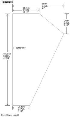 Sail template for the 1-Skewer Sled kite. | Kites | Pinterest | Kites