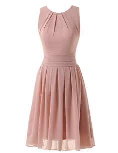 Clearbridal Women's Short Chiffon Blush Prom Bridesmaid Dress Evening Gown CSD331 ** Stop everything and read more details here! : Evening dresses