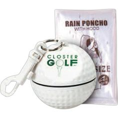 Golfers who get caught in the rain will have something handy to reach for with these clear emergency rain poncho golf ball sport safes! Each…