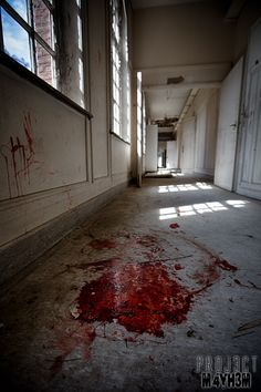 Salve Mater Psychiatric Hospital - Blood in the halls, blood on the walls. Gore Aesthetic, Psychiatric Hospital, Dark Thoughts, Afraid Of The Dark, Collage Maker, Dark Photography, Yandere, Belgium, Picsart