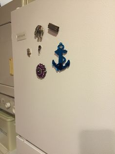 Fridge magnets made from old costume jewelry
