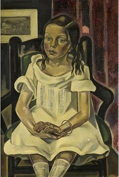 "Maria Blanchard (1881 - 1932) L'Infante au Bracelet"" 1922-23"