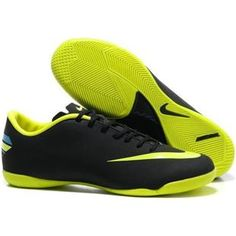 http://www.asneakers4u.com Nike Mercurial Vapor VIII IC Indoor Nike Soccer Cleats in Black and Volt