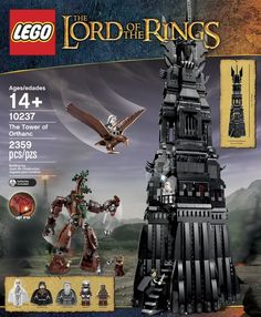 LEGO Unveils Exclusive Lord of the Rings Tower of Orthanc Set Cool, expensive for a toy, but cool.