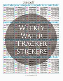 MsWenduhh Planning & Printing: Weekly Water Tracker Stickers