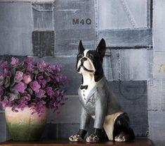 The Original American Gentleman Boston Terrier Statue Pet 1, Resin Sculpture, Trees To Plant, Boston Terrier, Gentleman, Sculpting, Dog Lovers, The Incredibles, Hand Painted