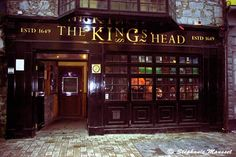 King's Head Pub - we had a galway hooker on our first night in Galway