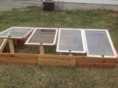 Building a cold frame.