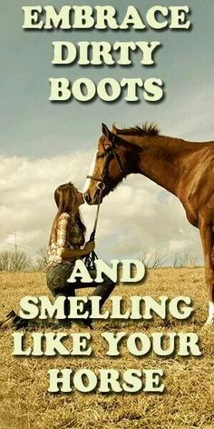 Smelling like your horse